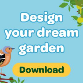 Download button with words design your dream garden
