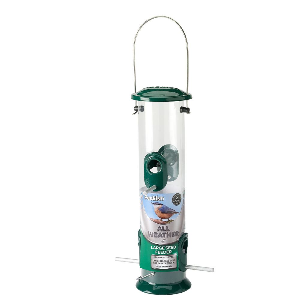Peckish All Weather Seed Feeder in pack