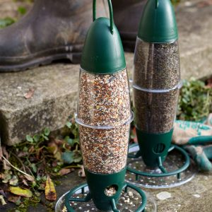 peckish 3 port nyjer feeder in use