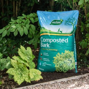 composted bark in use