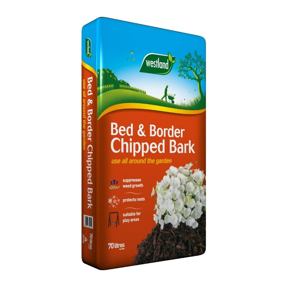 bed and border chipped bark 70l