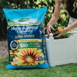 multi purpose compost with john innes in use