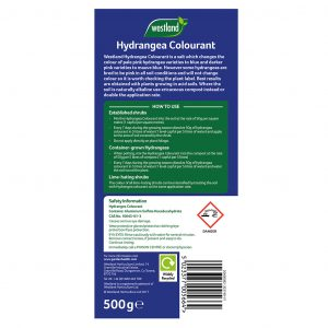 Westland Hydrangea Colourant back of pack