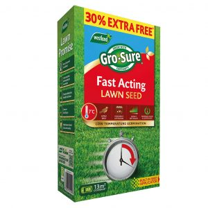 grosure fast acting lawn seed 10 sqm + 50% ef