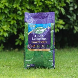 gro sure fine & lux lawn seed 100m2 bag lifestyle