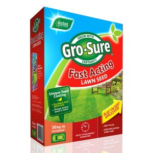 Gro-Sure Fast Acting Lawn Seed 30sq.m box