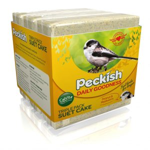 Peckish Daily Goodness Peanut & Mealworm Suet Cake in pack