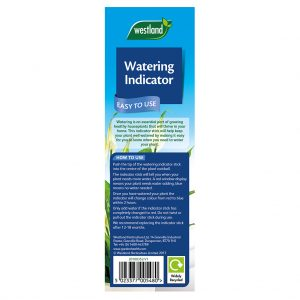 Westland Watering Indicator back of pack