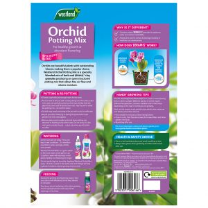 Westland Orchid Potting Mix back of pack