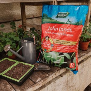 john innes seed sowing compost in use