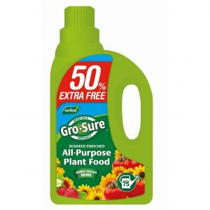 gro-sure all purpose plant food + 50% extra free