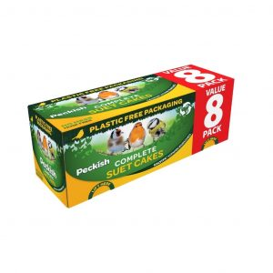 peckish complete suet cakes 8 pack packaging