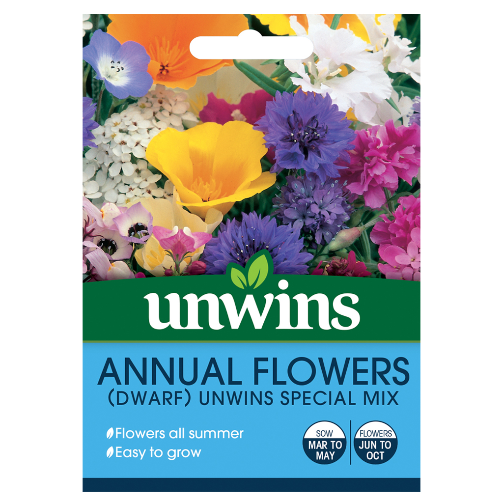 Annual Flowers (Dwarf) Unwins Special Mix