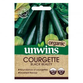 Unwins Organic Courgette Black Beauty