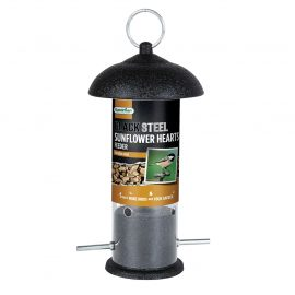 Gardman Black Steel Sunflower Heart Feeder in pack