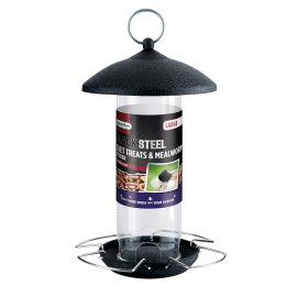 Gardman Black Steel Suet Treat and Mealworm Feeder