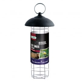 Gardman Black Steel Fat Snax Feeder in pack
