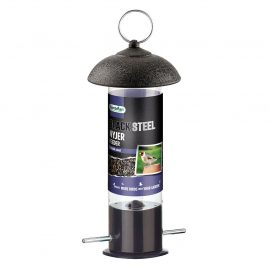 Gardman Black Steel Nyjer Seed Feeder in pack