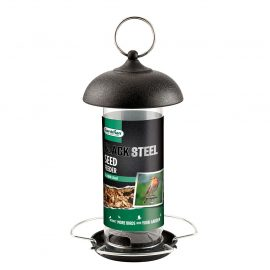 Gardman Black Steel Seed Feeder in pack