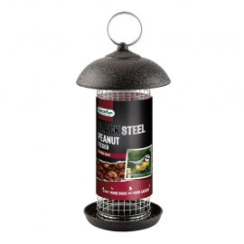 Gardman Black Steel Peanut Feeder in pack