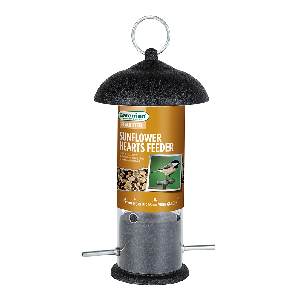 Gardman Large Black Steel Bird Peanut Feeder Garden Feeding Station Replacement