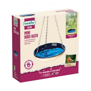 Gardman mini hanging bird bath in pack