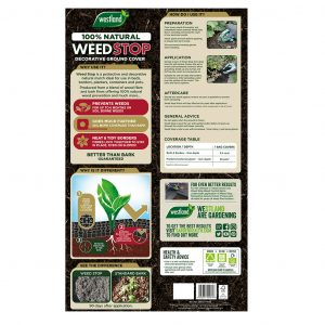 weed stop decorative ground cover back of pack