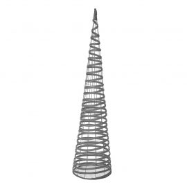 grey rattan effect obelisk