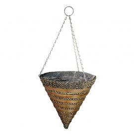 Sisal Rope and Fern Hanging Cone