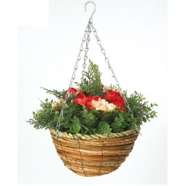 Artificial Begonia Hanging Basket