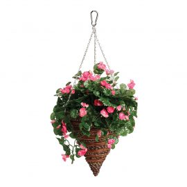Artificial Begonia Hanging Cone
