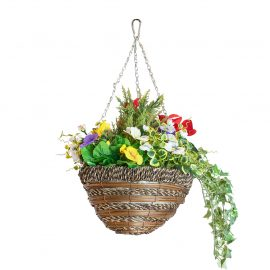 Artificial Mixed Floral Hanging Basket