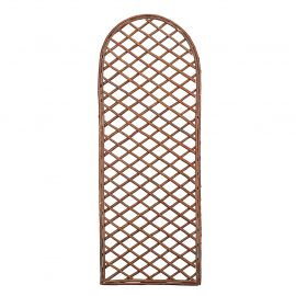 curved willow trellis panel