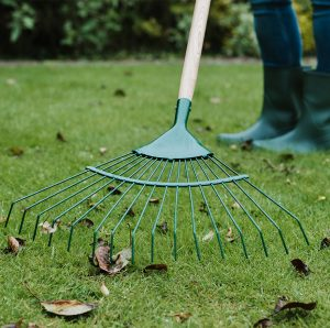 Gardener's Mate Lawn and Leaf Rake in use