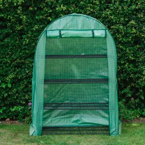premium 4 tier extra wide growhouse empty