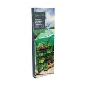 premium 4 tier growhouse shelving in pack