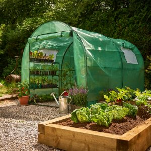 premium poly tunnel grow it in use