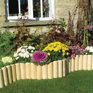 log roll log Rolls Garden border lawn edging available in 10 heights