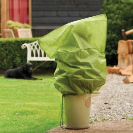 protective plant jacket on pot