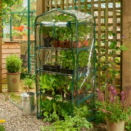 PVC 4 tier compact growhouse cover in use