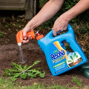 Resolva Xpress Weedkiller Ready to Use in use with soil