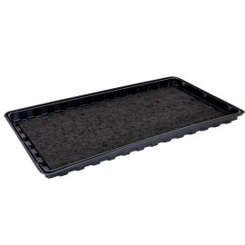 black watering tray with matting