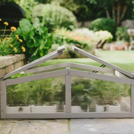 Wooden Cold Frame Dove Grey