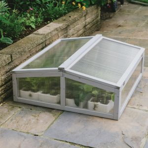 dove grey cold frame closed