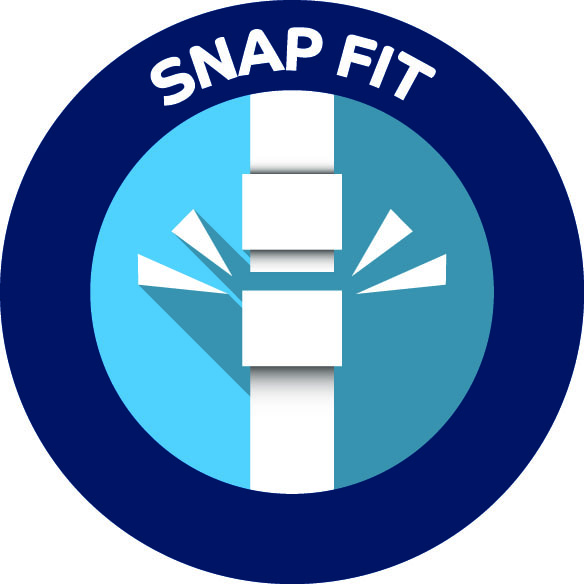 snap fit icon