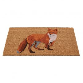 curious fox door mat