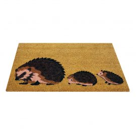 hedgehog family coir mat