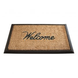 welcome rubber backed mat