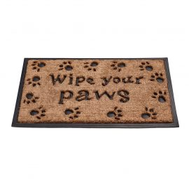 wipe your paws rubber backed coir mat