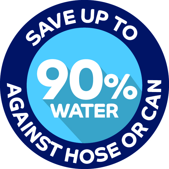 save up to 90% water icon